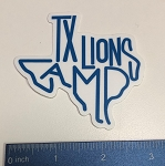 TX Shaped TLC Script Sticker