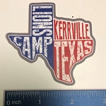 TX Shaped TLC Red/White/Blue Sticker